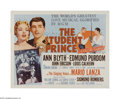 "Movie Posters:Musical, The Student Prince (MGM, R-1962). Half Sheet (22"" X 28""). Offeredhere is a vintage, theater-used poster for this musical th..."