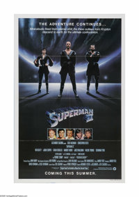 "Superman II (Warner Brothers, 1980). One Sheet (27"" X 41""). Offered here is a vintage, theater-used poster for..."