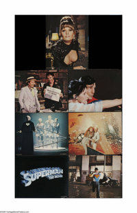 "Superman, the Movie (Warner Brothers, 1978). Lobby Cards (7) (11"" X 14""). Offered here are seven vintage, thea..."