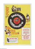 "Movie Posters:Rock and Roll, Teenage Millionaire (United Artists, 1961). One Sheet (27"" X 41"").This is a vintage, theater used poster for this 60s teen ..."
