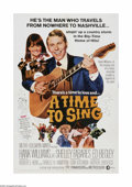 """Movie Posters:Drama, A Time to Sing (MGM, 1968). One Sheet (27"""" X 41""""). Offered here is a vintage, theater-used poster for this musical comedy th..."""