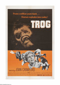 "Movie Posters:Horror, Trog (Warner Brothers, 1970). One Sheet (27"" X 41""). Offered here is a vintage, theater-used poster for this horror/thriller... ( items)"