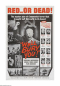 "Movie Posters:Documentary, We'll Bury You (Columbia, 1962). One Sheet (27"" X 41""). Offered here is a vintage, theater-used poster for this mystery thri..."