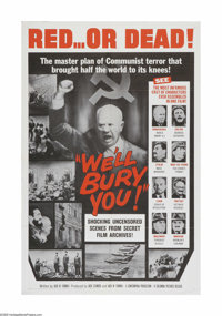 "We'll Bury You (Columbia, 1962). One Sheet (27"" X 41""). Offered here is a vintage, theater-used poster for thi..."
