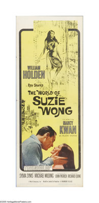 "The World of Suzie Wong (Paramount, 1960). Insert (14"" X 36""). Offered here is a folded, vintage, theater-used..."