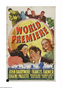 """World Premiere (Paramount, 1941). One Sheet (27"""" X 41""""). Offered here is a vintage, theater-used poster for th..."""