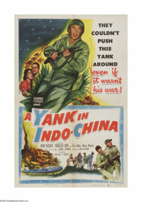 """A Yank in Indo-China (Columbia, 1952). One Sheet (27"""" X 41""""). Offered here is a vintage, theater-used poster f..."""