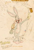 Animation Art:Production Drawing, Bugs Bunny Sketch by Harry Love (Warner Brothers, c. 1950s-60s)....