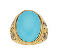 Estate Jewelry:Rings, Turquoise, Diamond, Gold Ring, Vahe Naltchayan . ...