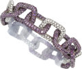 Estate Jewelry:Bracelets, Diamond, Amethyst, Gold Bracelet, Mimi So. ...