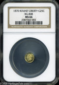 California Fractional Gold: , 1870 25C Liberty Round 25 Cents, BG-808, R.3, MS66 NGC....