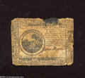 Colonial Notes:Continental Congress Issues, Continental Currency May 9, 1776 $6 Good. Some charring is noticedat top center of this note....