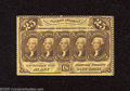 Fractional Currency:First Issue, Fr. 1279 25c First Issue Choice New. A wonderful perforated notethat has the ABNCo monogram on the back and which is crisp ...
