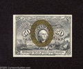 """Fractional Currency:Second Issue, Fr. 1318 50c Second Issue Very Choice New. This is a beautiful example of this variety that has """"1-18-63"""" surcharges on the ..."""