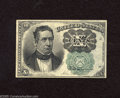 Fractional Currency:Fifth Issue, Fr. 1264 10c Fifth Issue About Uncirculated. A center fold is found on this Green Seal Walker....