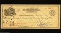 Miscellaneous:Other, B.Max Mehl 1939 Check. Coin dealer extraordinaire B. Max Mehlsigned this check. A vignette of his still-standing building i...