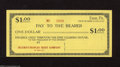 Miscellaneous:Other, Erie, PA- Erie Clearing House $1 Mar. 10, 1933 This is a remainderfrom FDR's bank holiday. Choice Crisp Uncirculated....