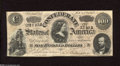 Confederate Notes:1864 Issues, T65 $100 1864. Sound edges and crispy paper dress this $100. Fine-Very Fine....