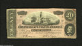 Confederate Notes:1864 Issues, T67 $20 1864. This note exhibits two light folds and some handling is also present on this colorful Civil War Twenty. Extr...