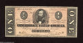 Confederate Notes:1864 Issues, T71 $1 1864. This Ace is of the orange tint persuasion. Crisp Uncirculated....