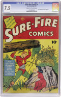 Golden Age (1938-1955):Superhero, Sure-Fire Comics #1 (Ace, 1940) CGC VF- 7.5 Cream to off-white pages. ...