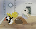 "Animation Art:Limited Edition Cel, ""Fish Locker"" Limited Edition Hand Painted Cel #152/200 Original Art with Walter Lantz Signed Payroll Check (Walter Lantz Prod... (Total: 3 Items)"