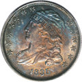 Bust Dimes: , 1835 10C MS64 PCGS. JR-9, R.2. The repunched 3 in the date is low,while the 5 is high and has a curved flag. The 10th star...