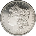 Proof Morgan Dollars: , 1882 $1 PR63 Cameo PCGS. The design elements reveal needle-sharp definition on each side, fro...