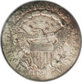 Early Dimes: , 1807 10C AU50 PCGS. JR-1, R.2. The only dies for this issue, whichends the Heraldic Eagle type. Aquamarine and apricot ton...