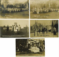 Miscellaneous:Ephemera, Group of Five American Suffragette Postcards. Four of these documentary photo cards show suffrage marchers and demonstrators... (Total: 5 )