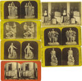 Photography:Stereo Cards, Abraham Lincoln Statuary Stereoviews. A good set of seven stereoviews, several including examples of Lincoln in statuary inc... (Total: 7 )