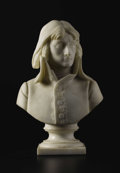 Marble:European, A Marble Bust of Napoleon. Gambacciani. 19th Century. Marble.Incised: Gambacciani. 18.5 inches high. A fine cast wi...