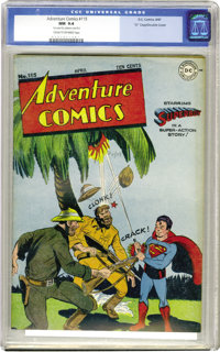 """Adventure Comics #115 """"D"""" Copy pedigree - Double Cover (DC, 1947) CGC NM 9.4 Cream to off-white pages. Double-..."""