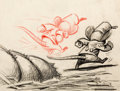 Animation Art:Concept Art, Dumbo Timothy Mouse Concept Art/Storyboard (Walt Disney1941)....