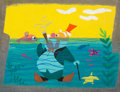 Animation Art:Concept Art, Mary Blair Alice in Wonderland Walrus Concept Art (WaltDisney, 1951)....