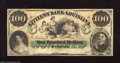 Obsoletes By State:Louisiana, New Orleans, LA- Citizens' Bank of Louisiana $100 18__ Detailed vignettes and color highlight this ABNCo note. Choice Cri...