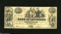 """Obsoletes By State:Louisiana, New Orleans, LA - Bank of Louisiana $10 June 14, 1862 This $10 also carries the """"Forced Issue"""" blue rubber stamping. The ba..."""