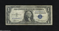 Error Notes:Skewed Reverse Printing, Fr. 1608 $1 1935A Silver Certificate. Fine-Very Fine. This earlySilver exhibits a back print that is out of register with ...