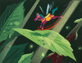 "Animation Art:Concept Art, Mary Blair Alice in Wonderland ""Rocking Horsefly"" ConceptPainting (Walt Disney, 1951)...."