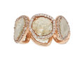 Estate Jewelry:Rings, Diamond, Rose Gold Eternity Band. ...