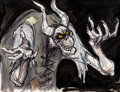 Animation Art:Concept Art, The Black Cauldron The Horned King Concept Art by AndreasDeja (Walt Disney, 1985). ...