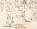 "Animation Art:Concept Art, Pinocchio Cockaigne/Pleasure Island ""Soda Trees"" Concept Art(Walt Disney, 1940). ..."