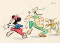 Animation Art:Production Drawing, Fun and Fancy Free Mickey Mouse, Goofy, and Donald Duck Storyboard Drawing (Walt Disney, 1947)....
