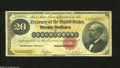 Large Size:Gold Certificates, Fr. 1178 $20 1882 Gold Certificate Very Good-Fine. The colors on the face of this note are vibrant, but the back is a little...