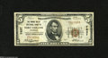 National Bank Notes:Colorado, Fort Collins, CO - $5 1929 Ty. 1 The Poudre Valley NB Ch. # 7837This note off of a tough state is crispy with solid ma...