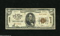 National Bank Notes:Missouri, Saint Louis, MO - $5 1929 Ty. 1 The Security NB Savings & TCCh. # 12066 This Brown Seal has solid margins, but exhibit...