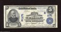 National Bank Notes:Pennsylvania, Easton, PA - $5 1902 Plain Back Fr. 598 The First NB Ch. # (E)1171 Sound edges and nice color drape this $5 that has p...
