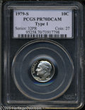 Proof Roosevelt Dimes: , 1979-S 10C Type One PR 70 Deep Cameo PCGS. ...