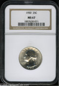 Washington Quarters: , 1950 25C MS67 NGC. ...