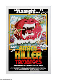 "Attack of the Killer Tomatoes (NAI Entertainment, 1978). One Sheet (27"" X 41""). Offered here is a vintage, the..."